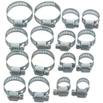 JUBILEE CLIPS HOSE CLAMPS PIPE 16pc HOSE CLIP 13MM - 32MM