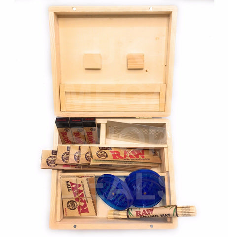 Wooden Rolling Box Raw Paper Tips Grinder Rolling Mat Shredder