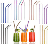 4x Stainless Steel Straw