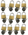 12pc 20mm Brass Padlock (2 Keys)