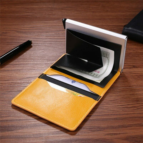 Auto Credit Card Holder RFID Blocking Card Holder with Gift Box Card Protector