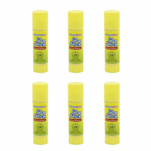 Glue Stick Original - Multi Pack 6 x 9g - Childproof washable paper cardboard