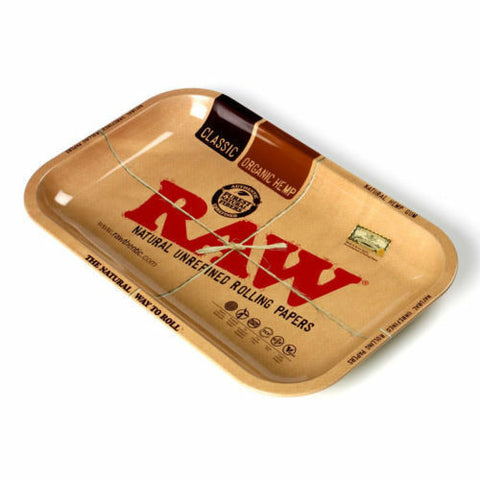 Raw Rolling Tray Metal 1970's Style - Collectors Tray Mini (Small, Medium, Large)