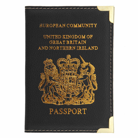 UK & European Passport Cover Holder Wallet Pouch Leather - Buy 3 Get 1 Free