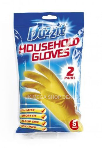 Duzzit Pack of 2 Pairs Latex Gloves (S, M, L)