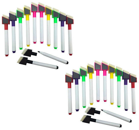 24 Colour White Board Markers (Magnetic)
