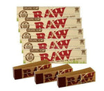 Genuine RAW Organic Kingsize Slim Rolling Papers + RAW TIPS FREE