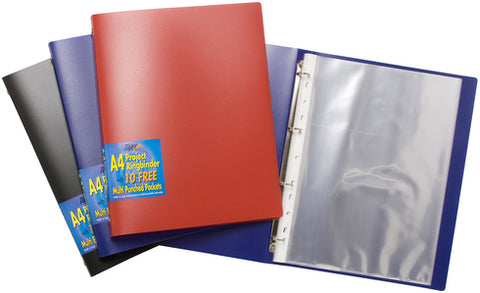 Slim PP Project Ring Binders (A4 Clear View Colours)