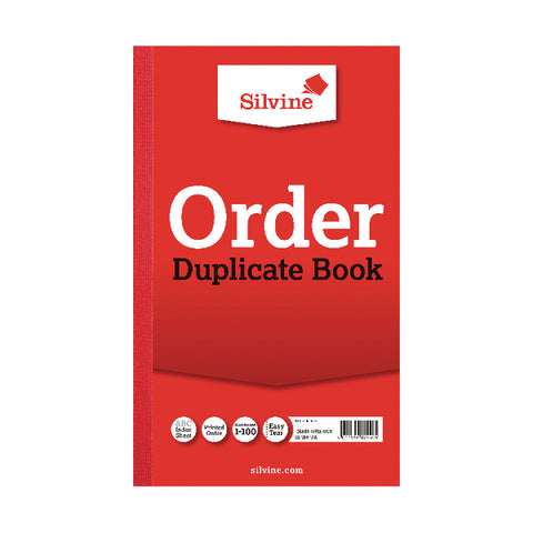 Silvine Duplicate Order Book (Pack of 6)