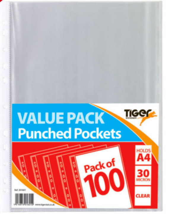 Value Packs of Punched Pockets