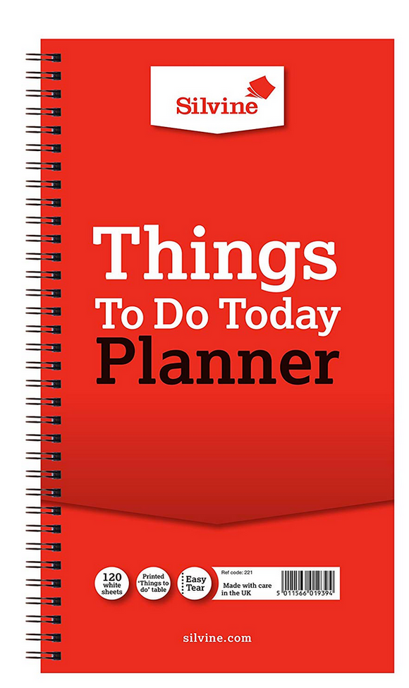 Silvine Things To Do Planner