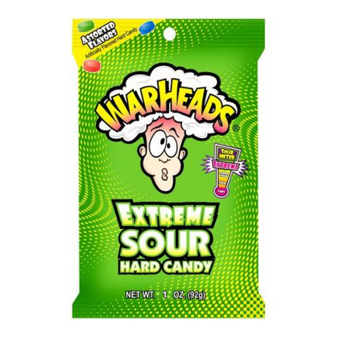 Warheads - Extreme Sour Hard Candy - 1oz (28g)