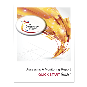 ASSESSING A MONITORING REPORT – QUICK START GUIDE