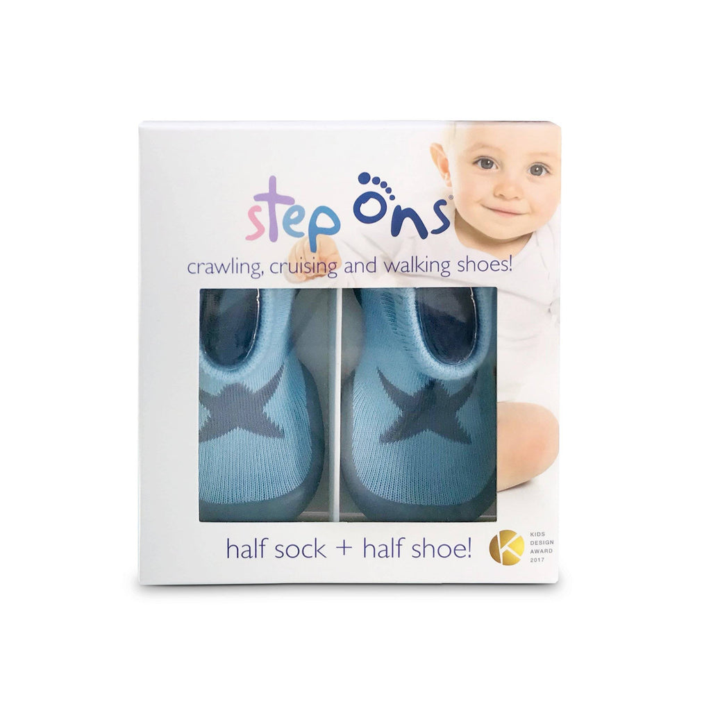 Grey Step Ons Crawling, Cruising, Pre-Walker Baby Sock Shoe