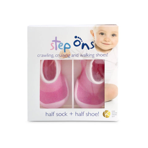 Image of Grey Step Ons Crawling, Cruising, Pre-Walker Baby Sock Shoe