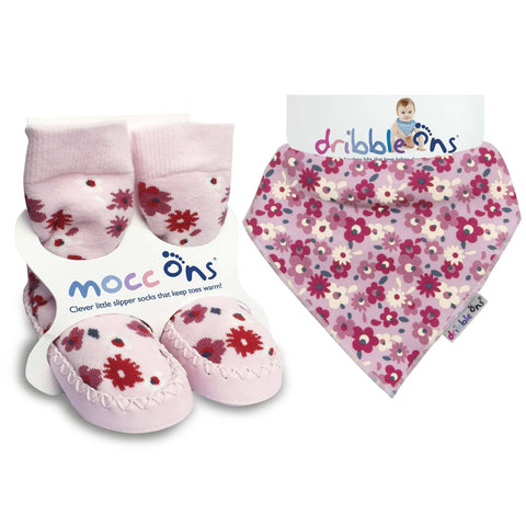 Mocc Ons Dribble Ons Floral Ditsy BUNDLE
