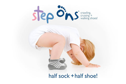 Image of Pink Step Ons Crawling, Cruising, Pre-Walking Baby Sock Shoe
