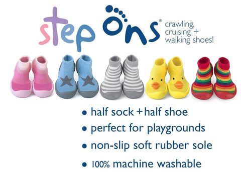Rainbow Step Ons Crawling, Cruising, Pre-Walking Baby Sock Shoe