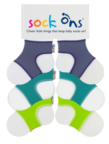 Image of 3pk Colour Sock Ons Multi Pack SAVE!