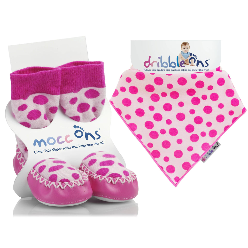 Mocc Ons Dribble Ons BUNDLE Cow print
