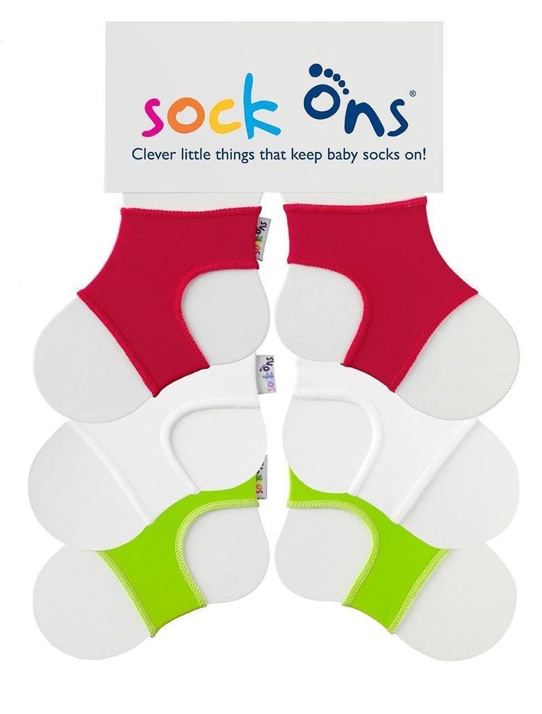 3pk Colour Sock Ons Multi Pack SAVE!