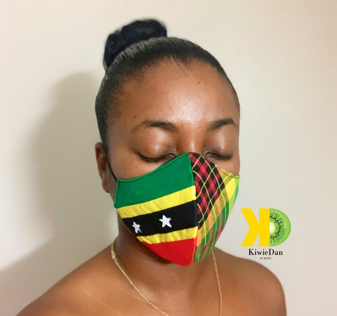 SKN Flag Face Mask with Madras