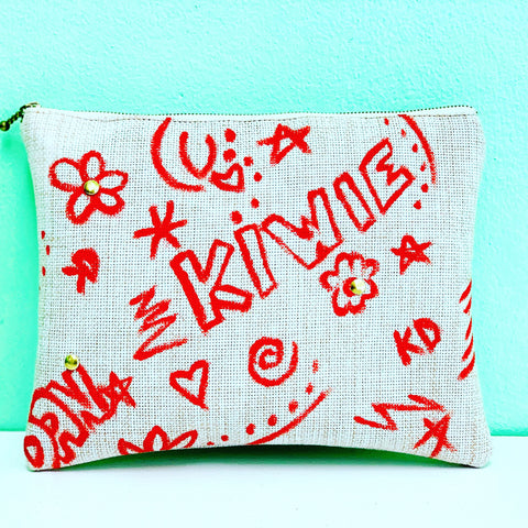 Red Kiwie Clutch