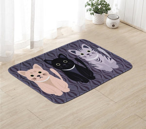 Kawaii Cat Floor Mat