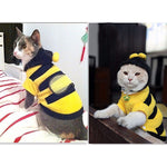 Cute Bees Cat Fleece Outfit