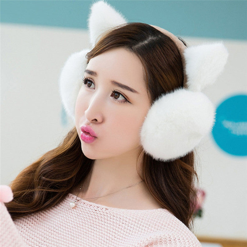 Fluffy Cat Earmuffs