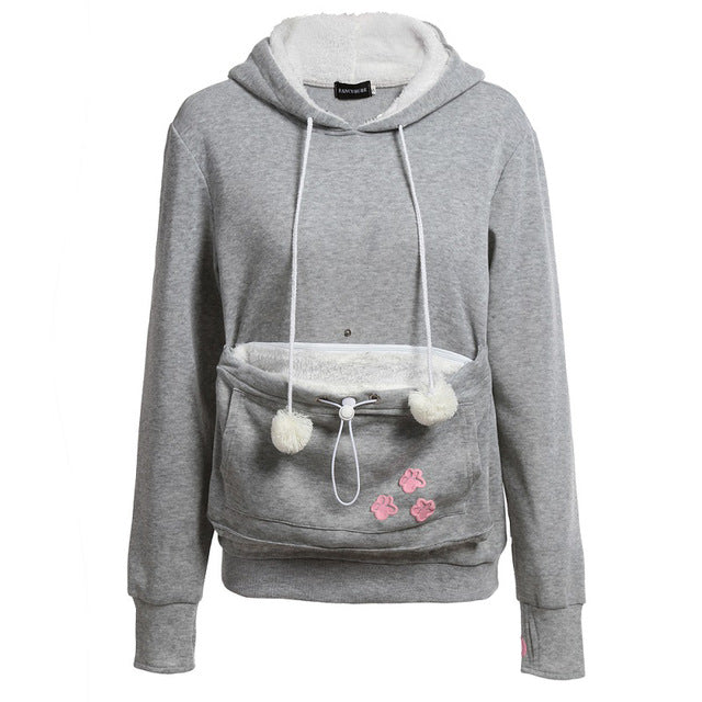 Cozy Cat Carrying Pouch Hoodie