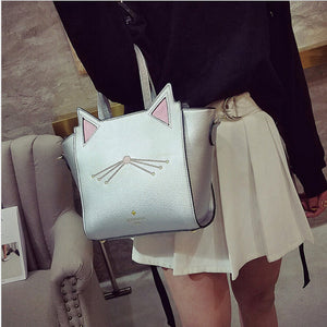 Large Fashion Cat Wings Leather Shoulder Bag