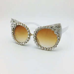 Sexy Cat Eyes Sunglasses Vintage Shades Eyewear