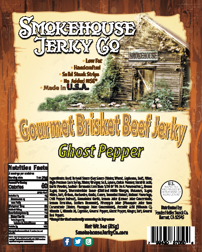 Ghost Pepper Brisket Beef Jerky