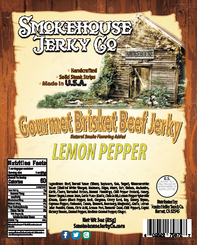 Lemon Pepper Brisket Beef Jerky