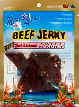 Maui-Licious Sweet & Spicy Beef Jerky