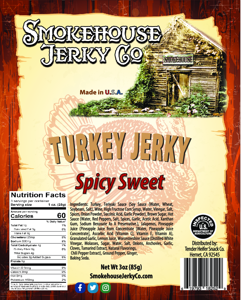 Spicy Sweet Turkey Jerky
