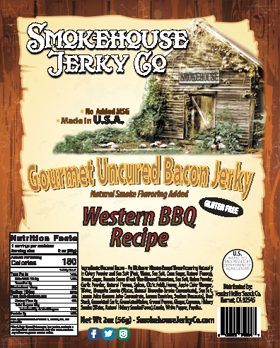 Western Barbecue Bacon Jerky - GLUTEN FREE