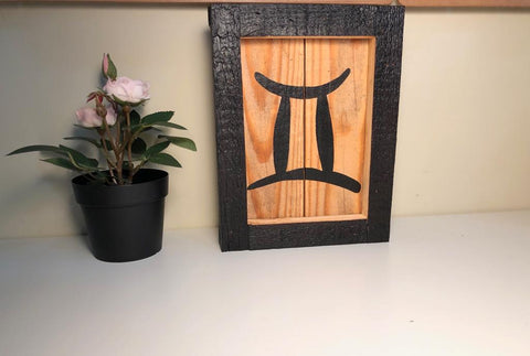 Mini Wood Zodiac Art