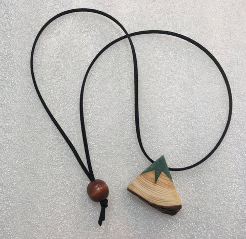 Forest Green Mountain Necklace