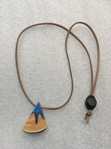 Ice Blue Mountain Necklace