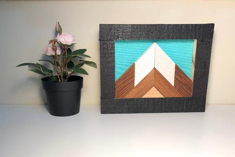 Mini Single Mountain Peak Wood Art