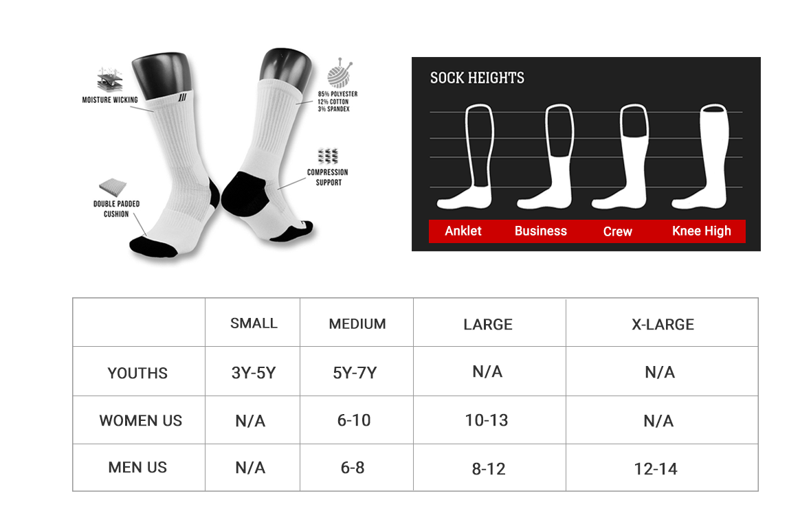 Prosocks Sizing