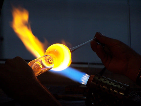 torches for glass smoking pipes are incredibly hot and it takes intense focus by the glass pipe maker not to harm themselves