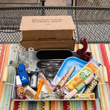 The original Me Time Box is a top rated smoking subscription box packed with smoke shop essentials.