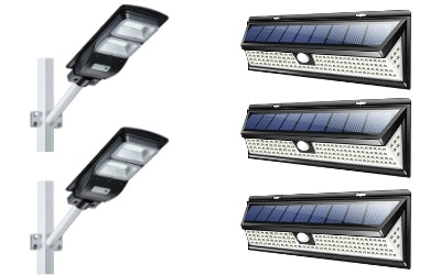 Solar 118 LED 1000LM + 60W Solar Street Light 4500LM Bundle Offer