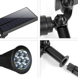 7 LEDs Outdoor Solar Spotlight