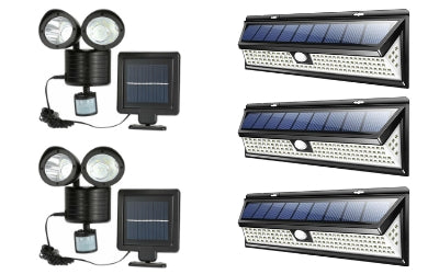Solar Double Heads Motion Sensor + 118 LED 1000LM Bundle Offer