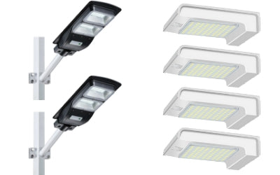 Solar Steet Light 60W 4500LM + 72 LED Wall Light Bundle Offer