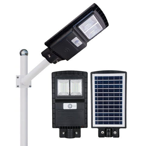 80W Solar Street Light 8000LM 3 Lighting Modes